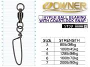 OWNER 5159 HYPER BALL BEARING WITH COASTLOCK SNAP