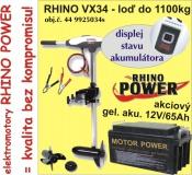 Elektrický lodný motor Rhino VX + Akumulator 65Ah/12V