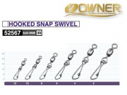 OWNER 52567 HOOKED SNAP SWIVEL