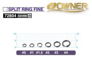 OWNER 52804 SPLIT RING FINE