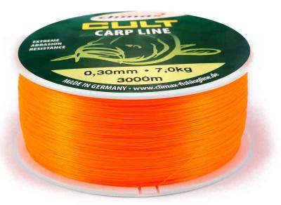 Climax silon CULT Carpline fluo - oranžový 3000 m