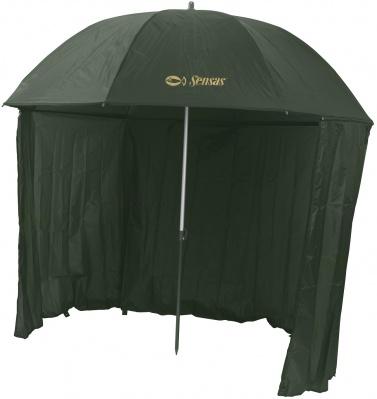 Dáždnik s bočnicou  Liez 2,5m (zelený)