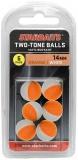 Two Tones Balls 14mm oranžová/biea (plávajúca gulička kulička) 6ks