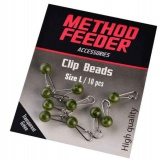 Karabínka s ochranou Method Feeder Clip beads 10ks